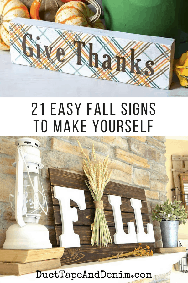 21 easy fall signs to make yourself | DuctTapeAndDenim.com