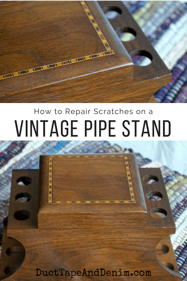 How to repair scratches on a vintage pipe stand