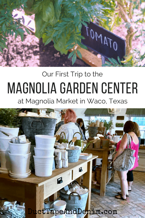 Our first trip to the Magnolia garden center | DuctTapeAndDenim.com