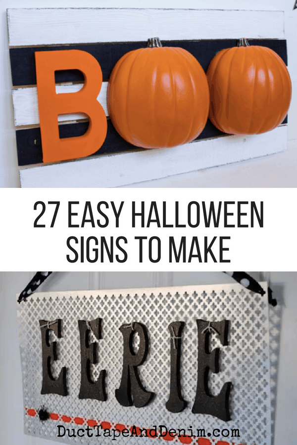 27 easy halloween signs to make, collage 1