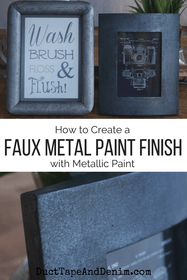 how to create a faux metal paint finish