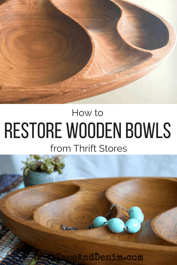 How to restore wooden bowls | DuctTapeAndDenim.com