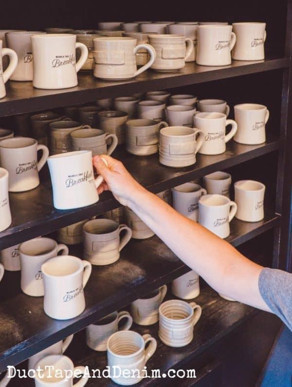 Breakfast coffee mugs at Magnolia restaurant | DuctTapeAndDenim.com