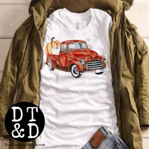 DTD SHIRTS - fall red truck t-shirt