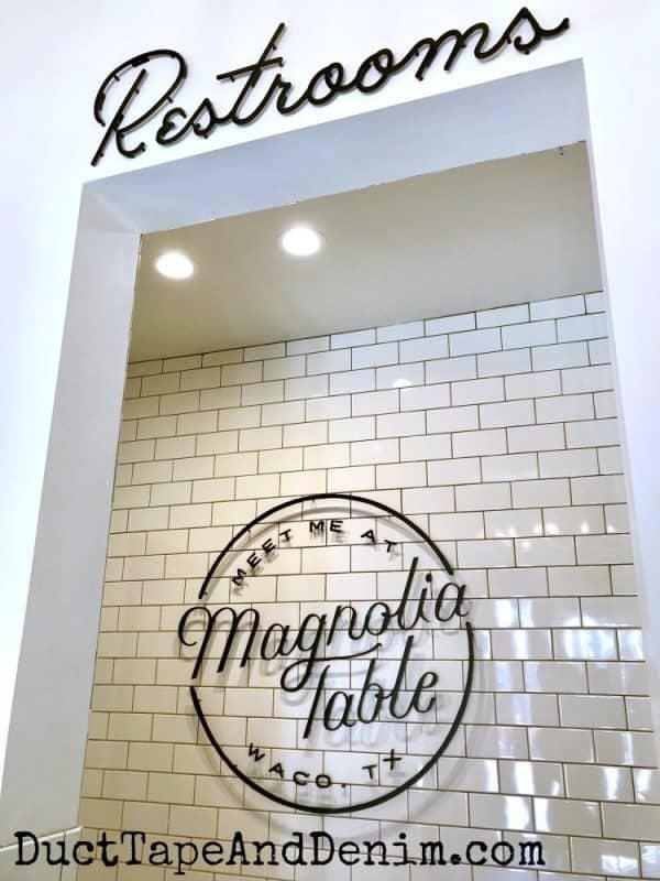 Magnolia Table restrooms | DuctTapeAndDenim.com