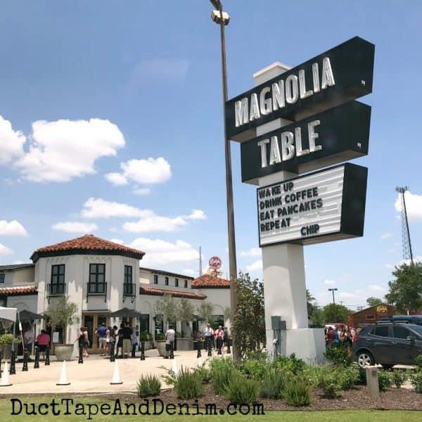 Magnolia Table sign in Waco | DuctTapeAndDenim.com