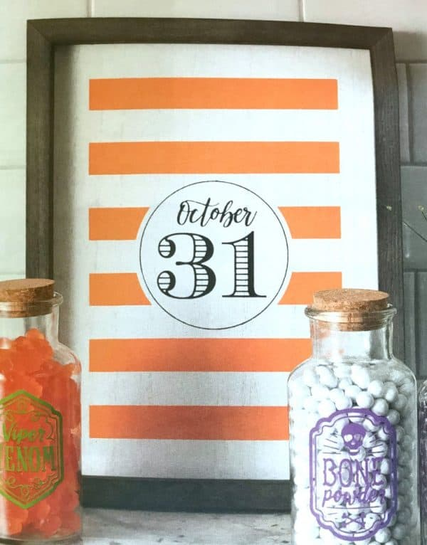 October 31 Chalk Couture Halloween sign
