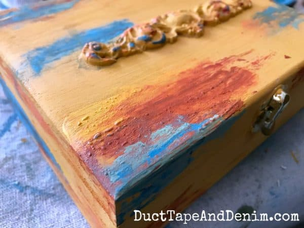 Paint bubbles in my boho paint finish | DuctTapeAndDenim.com