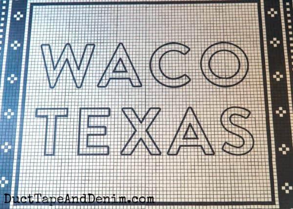 Waco Texas on floor at Magnolia Table | DuctTapeAndDenim.com