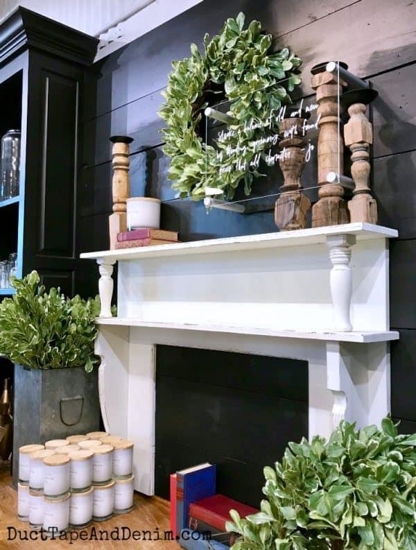 White mantel #1 in Magnolia Market | DuctTapeAndDenim.com
