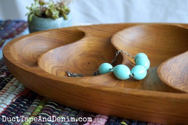 close up of how to restore wooden bowls