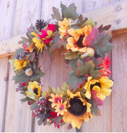 cheap fall wreath