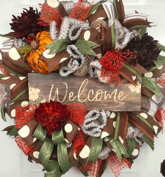 welcome fall wreath