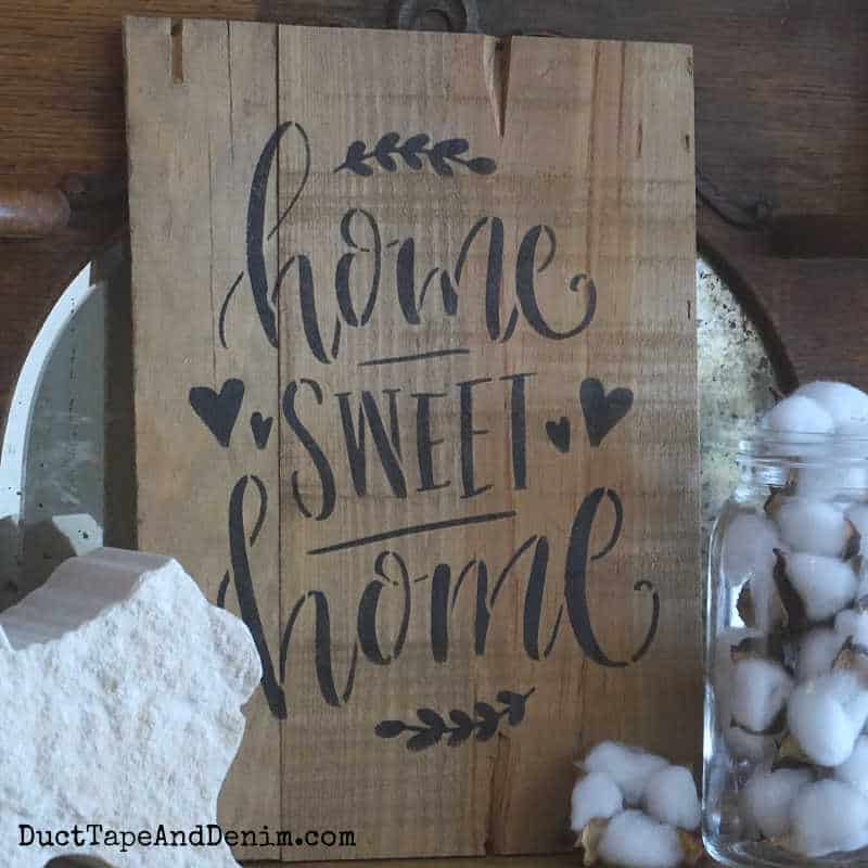 How to Make a Vintage Style Home Sweet Home Sign {VIDEO}