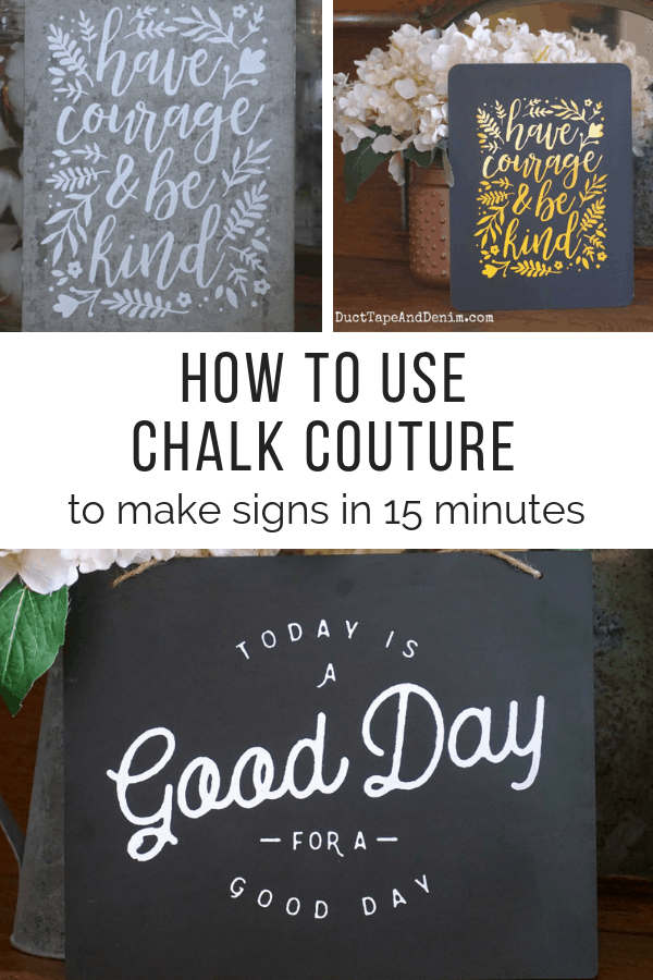 how to use chalk couture, collage 1