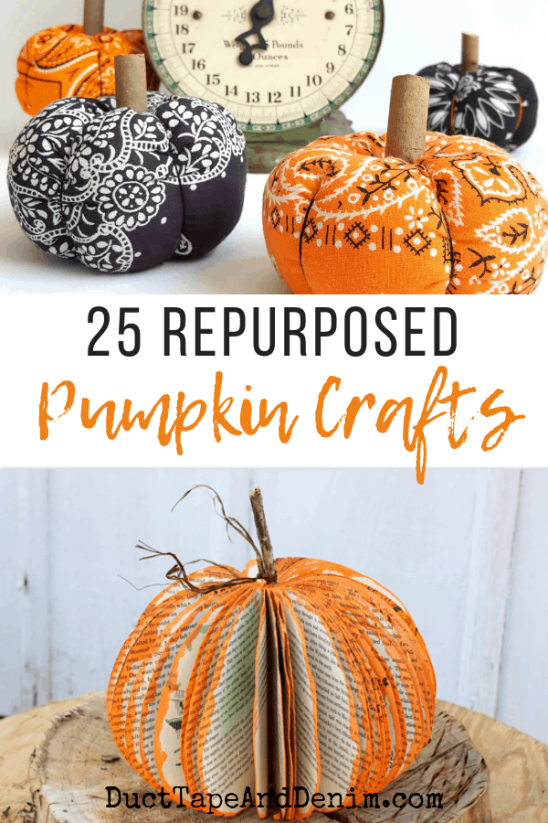 repurposed pumpkin crafts, collage 1