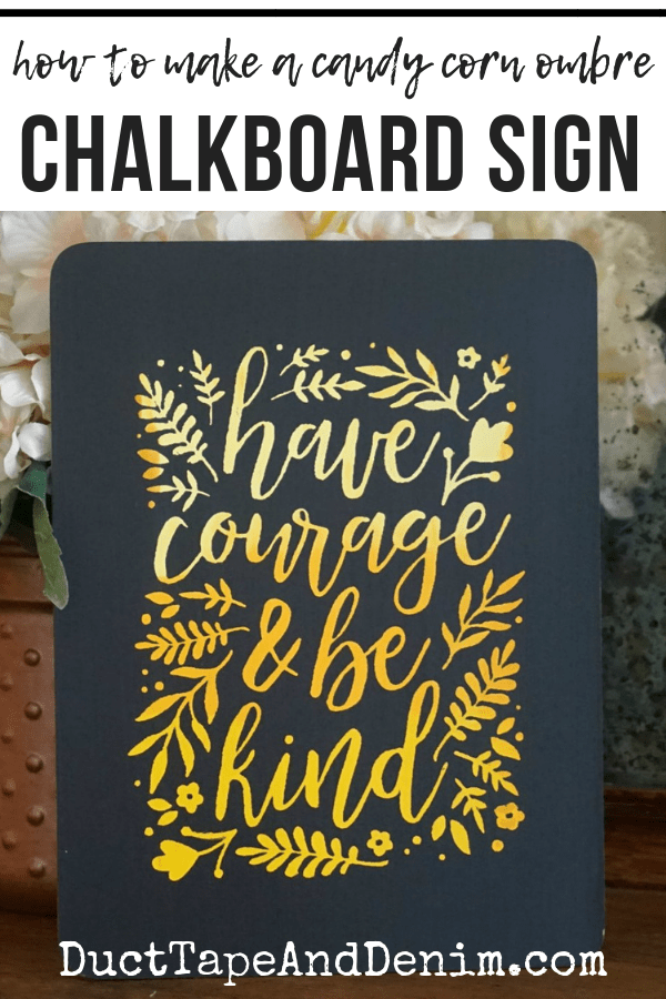 How to make a candy corn ombre chalkboard sign