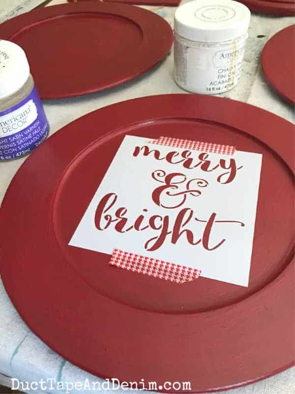 Merry and Bright Stencil