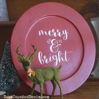 Thrift Store Makeovers with a Merry and Bright Stencil