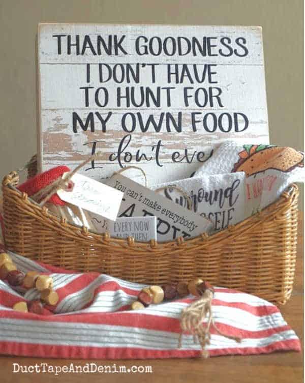 Taco gift basket