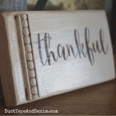 How to Stencil Grateful and Thankful Signs