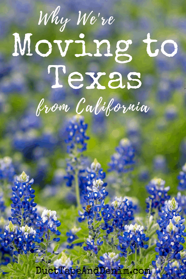 why we're moving to Texas from California