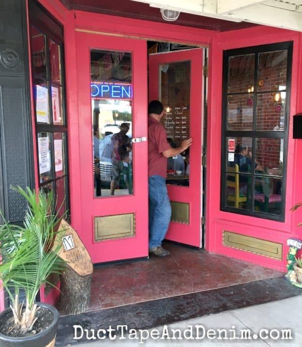 Front door of Casa Jacaranda Mexican Restaurant | DuctTapeAndDenim.com