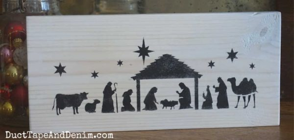 Nativity sign, white