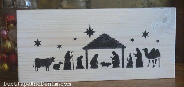 Nativity sign, white