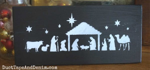 Nativity sign, black