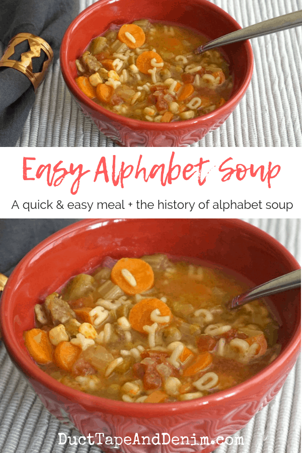 Easy alphabet soup, collage 1