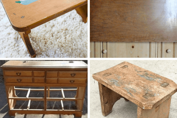 thrift store furniture makeovers, SQUARE