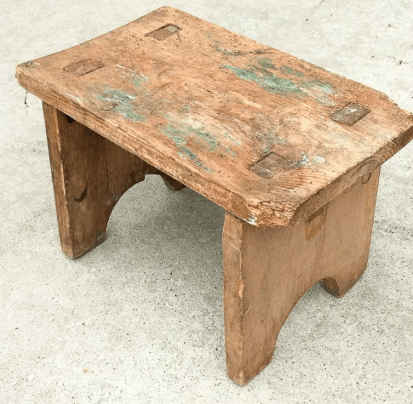 antique step stool makeover