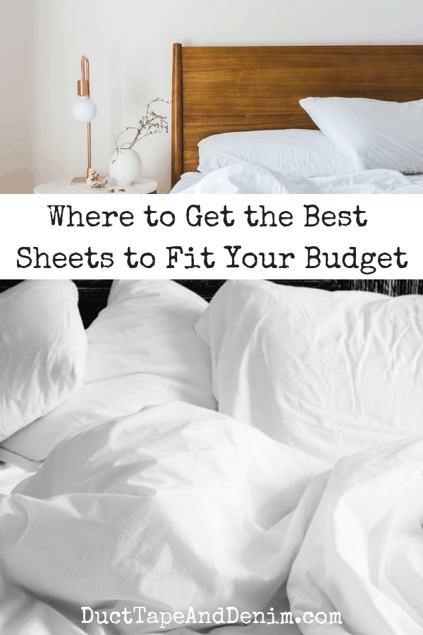 where to get the best sheets to fit your budget, collage 1