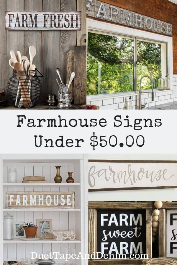 farmhouse signs under 50, collage 1