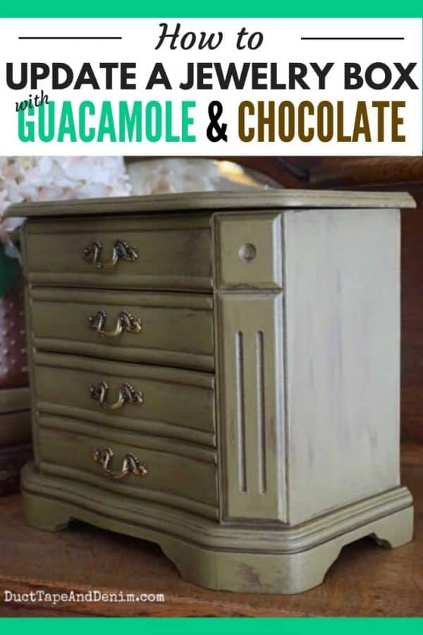 PINTEREST collage - How to update a jewelry box with guacamole