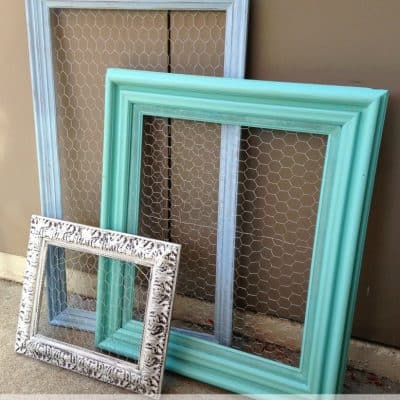 How to Make Chicken Wire Frames from Thrift Store Finds