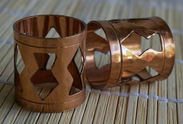 copper napkin rings
