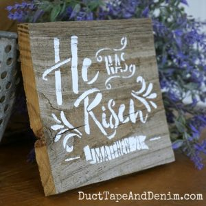He is risen easter sign 1 - SQUARE