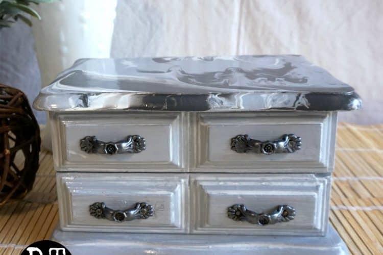 finished gray jewelry box