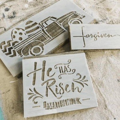 How to Stencil a Forgiven Sign on Barnwood