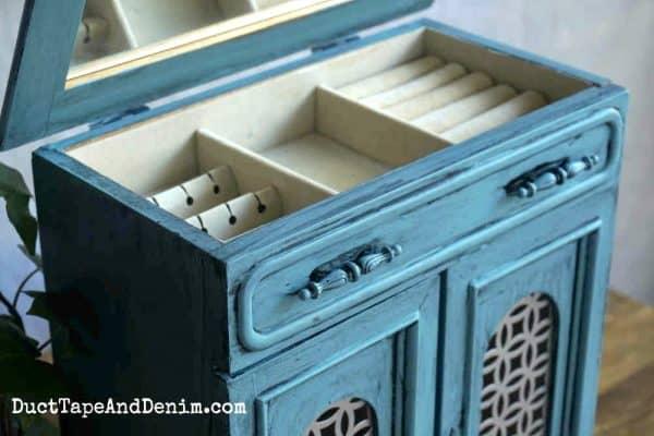 Inside blue glazed jewelry cabinet_horizontal