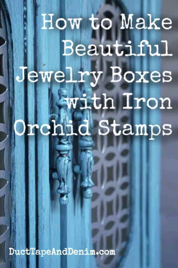 How to make beautiful jewelry boxes with iron orchid stamps