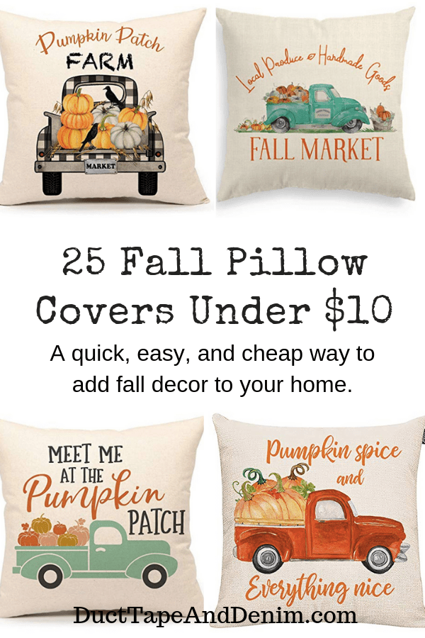 fall pillow cover collage