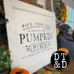 pumpkin patch stencil sign SQUARE