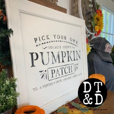 How to Make an Easy Pumpkin Patch Sign {VIDEO}