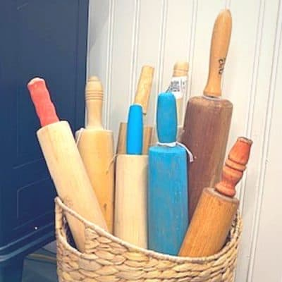 How to Make New Wooden Rolling Pins Look Vintage