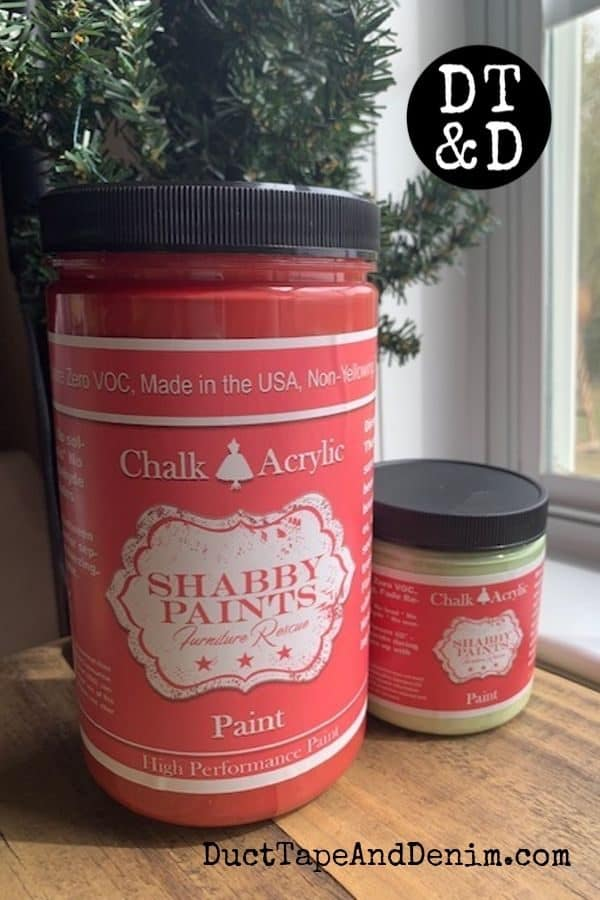 shabby paints, betsy ross red and hummingbird green