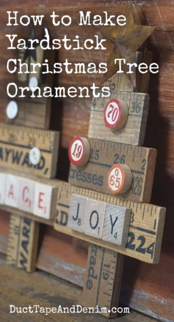 how to make yardstick christmas tree ornaments