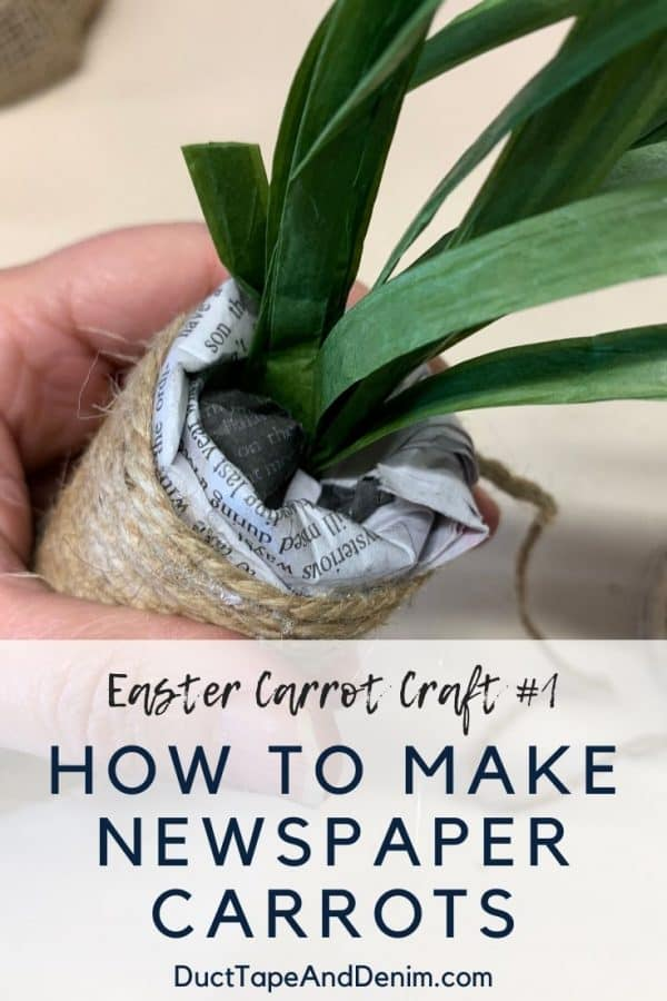 Easter carrot craft - newspaper carrots